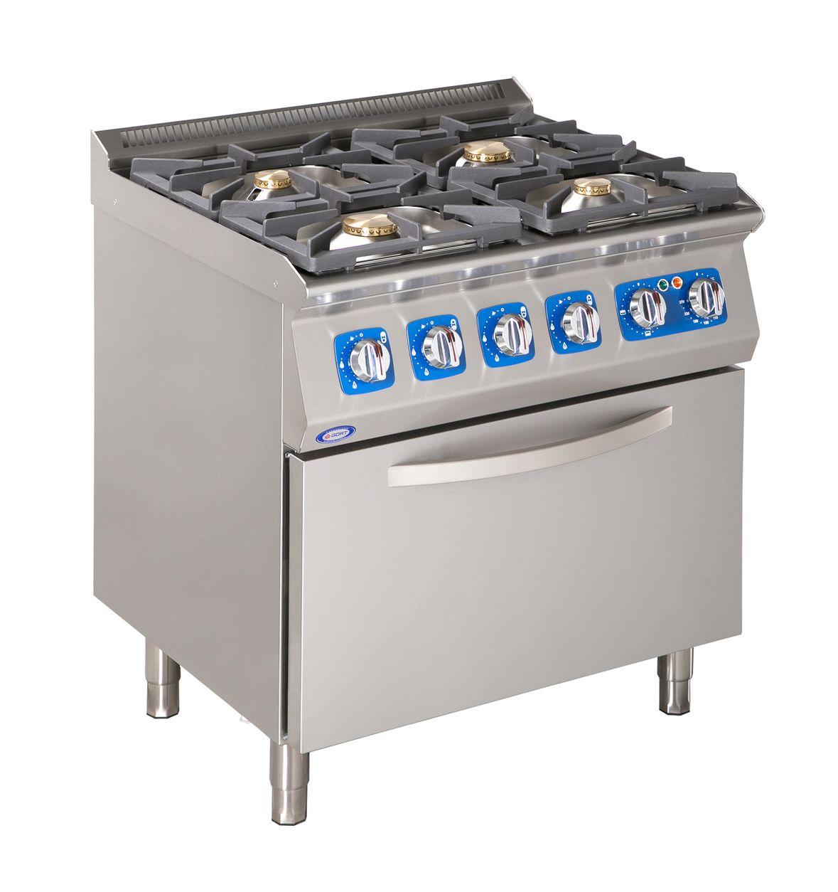Kuchnia gazowa 4 palnikowa z piekarnikiem elektrycznym  GORT™  Fabryka Masz
