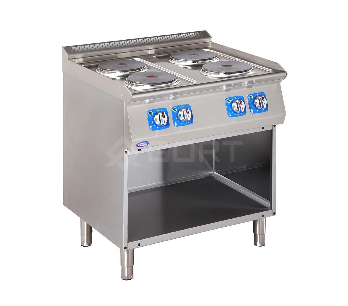 Kuchnia elektryczna 4-płytowa z szafką