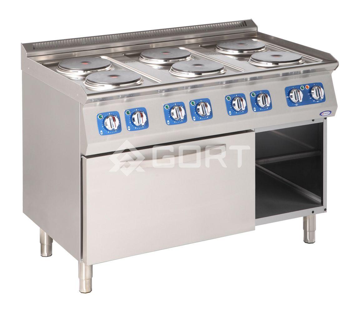 Kuchnia Elektryczna 6 Płytowa Z Piekarnikiem Elektrycznym