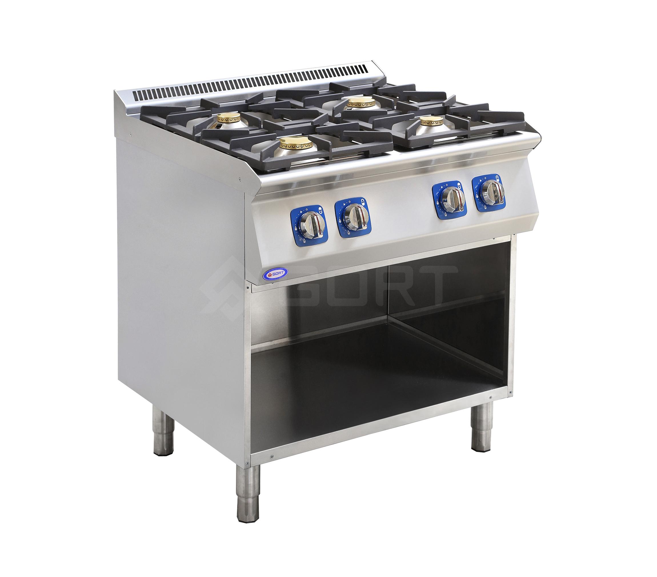 Kuchnia gazowa 4-palnikowa z szafką