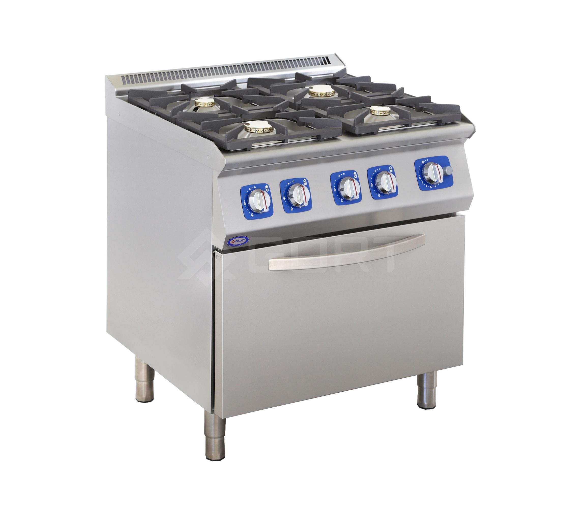 Kuchnia gazowa 4-palnikowa z piekarnikiem gazowym