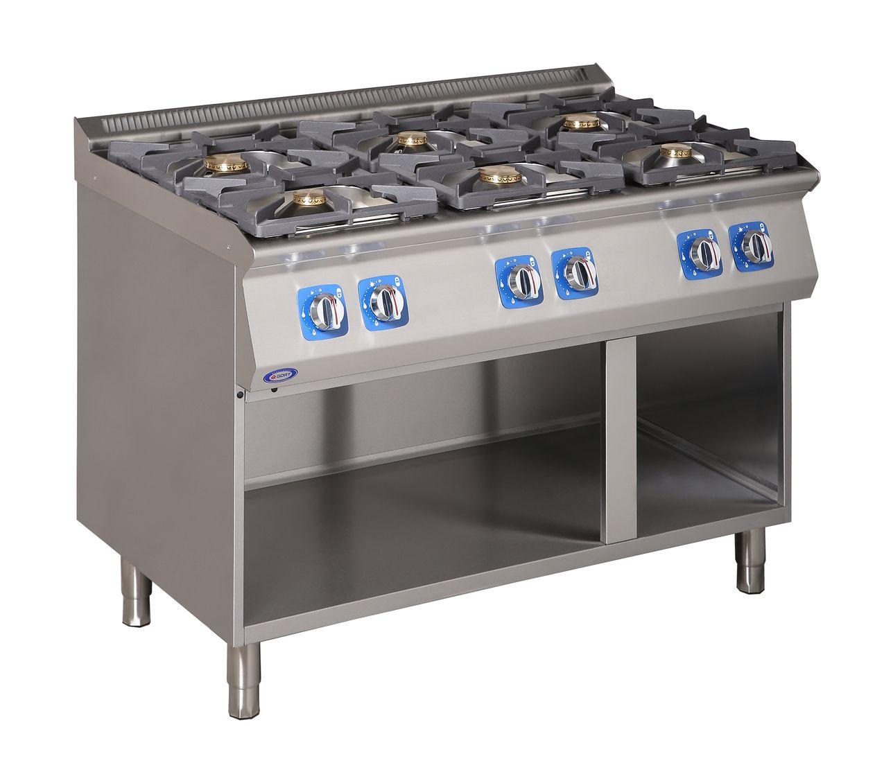 Kuchnia gazowa 6-palnikowa z szafką