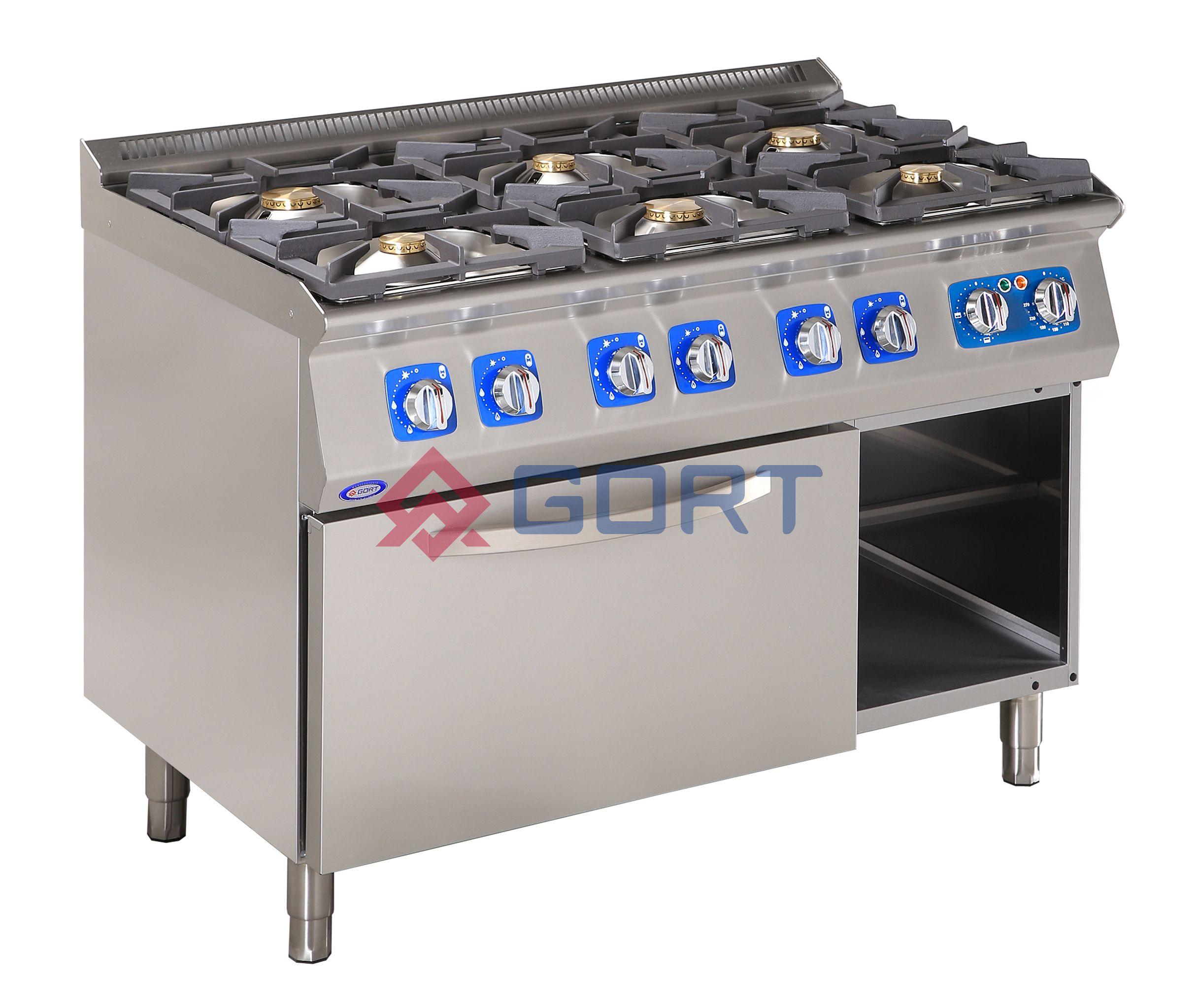 Kuchnia Gazowa 6 Palnikowa Z Piekarnikiem Elektrycznym Gort