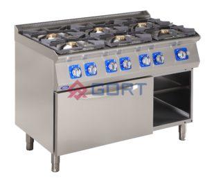 kuchnia gazowa 6 palników z piekarnikiem gazowym