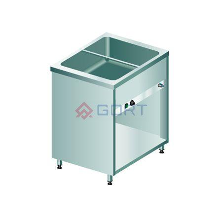 Bemar stacjonarny 1-komorowy (2xGN1/1), z szafką otwartą