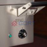 patelnia elektryczna wolnostojąca uchwyt misy wychylnej