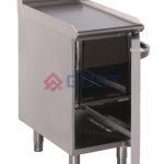 element neutralny z szafką na butle gazowe lub zmiękczacz wody