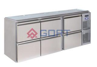 stół chłodniczy barowy 6 szuflad