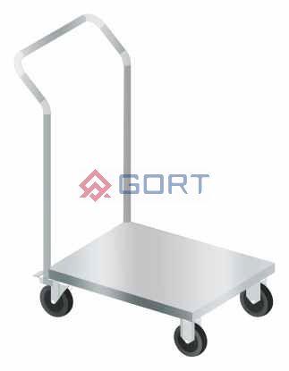 Wózek do transportu z podstawą pełną