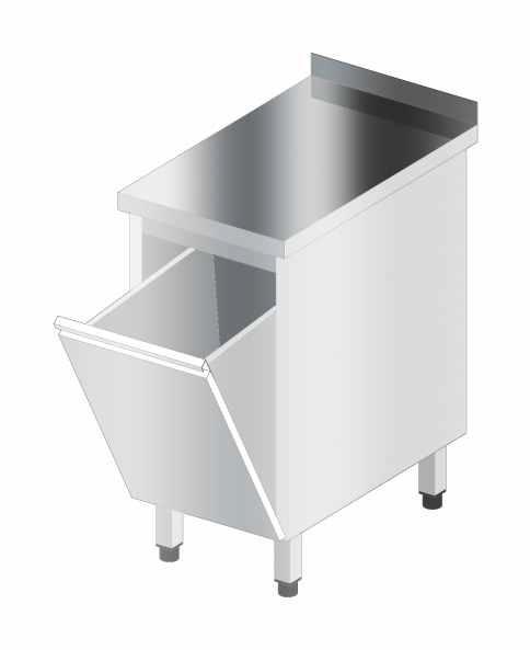Stół korpusowy z pojemnikiem wychylnym