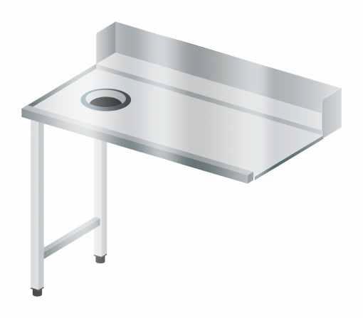 Stół załadowczy prosty z otworem na odpady