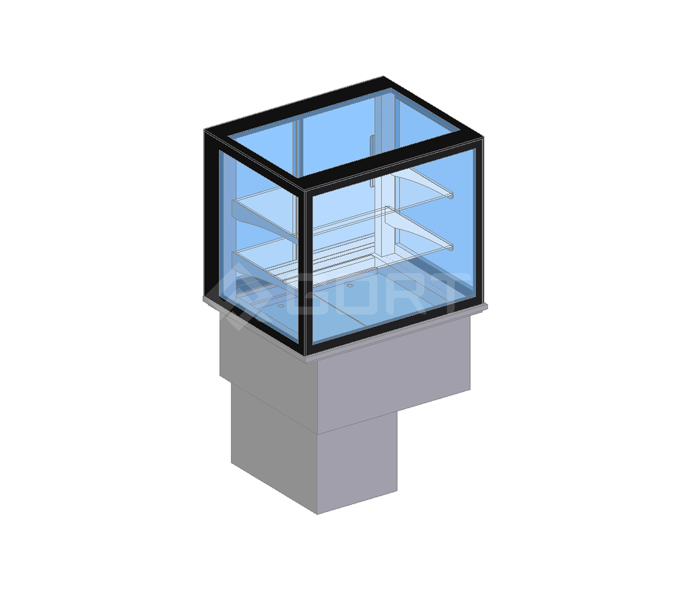 Island refrigerated display DROP-IN, 2 x GN1/1, closed