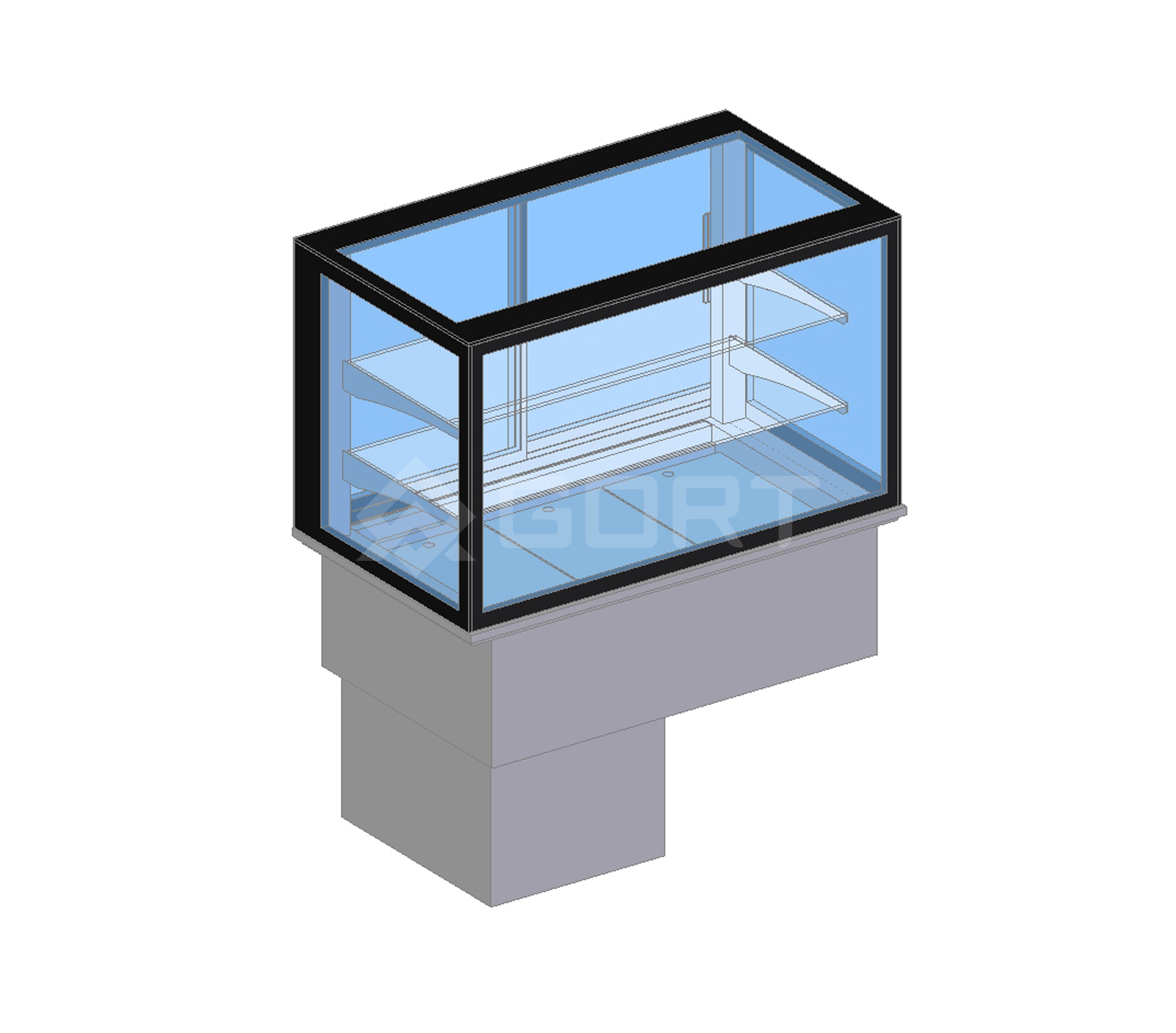 Island refrigerated display DROP-IN, 3 x GN1/1, closed