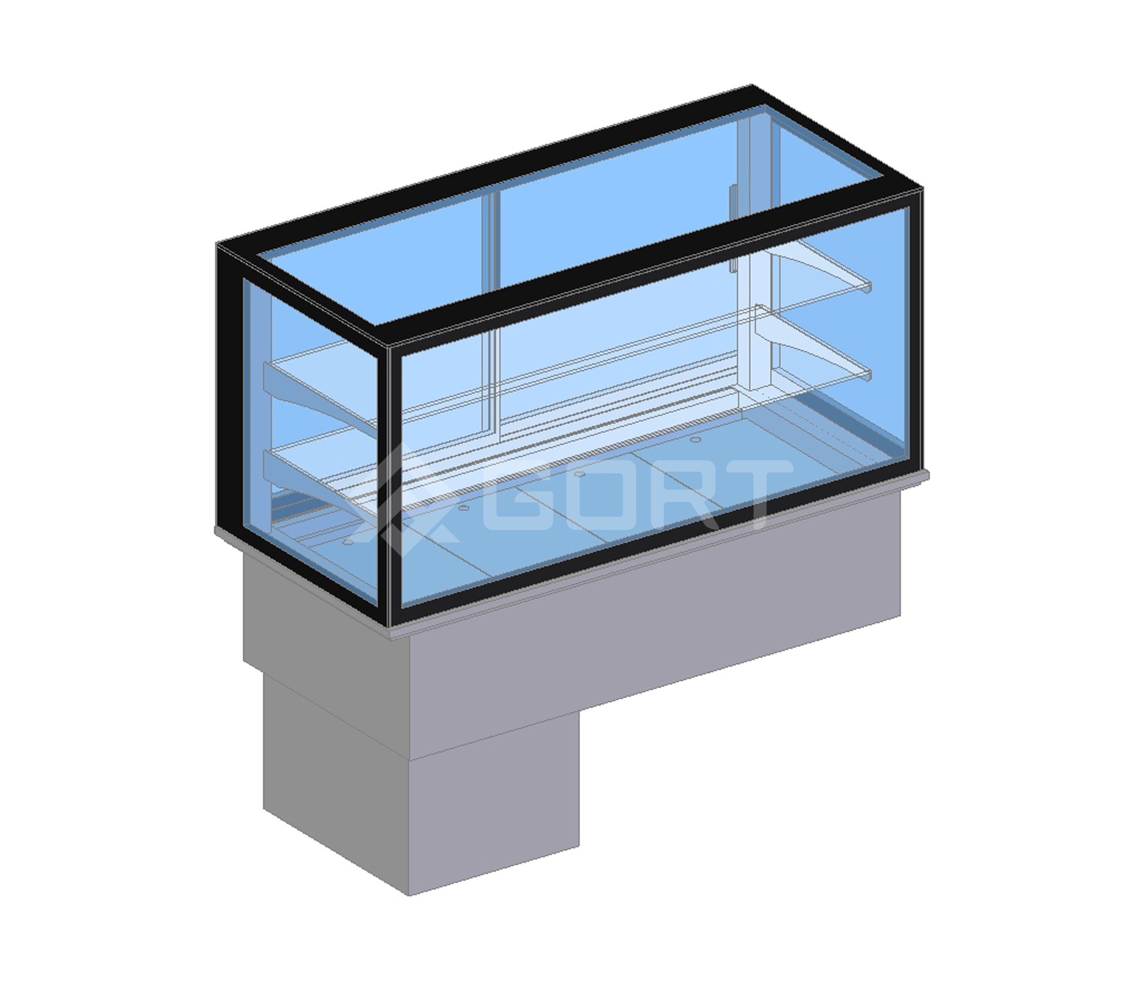 Island refrigerated display DROP-IN, 4 x GN1/1, closed