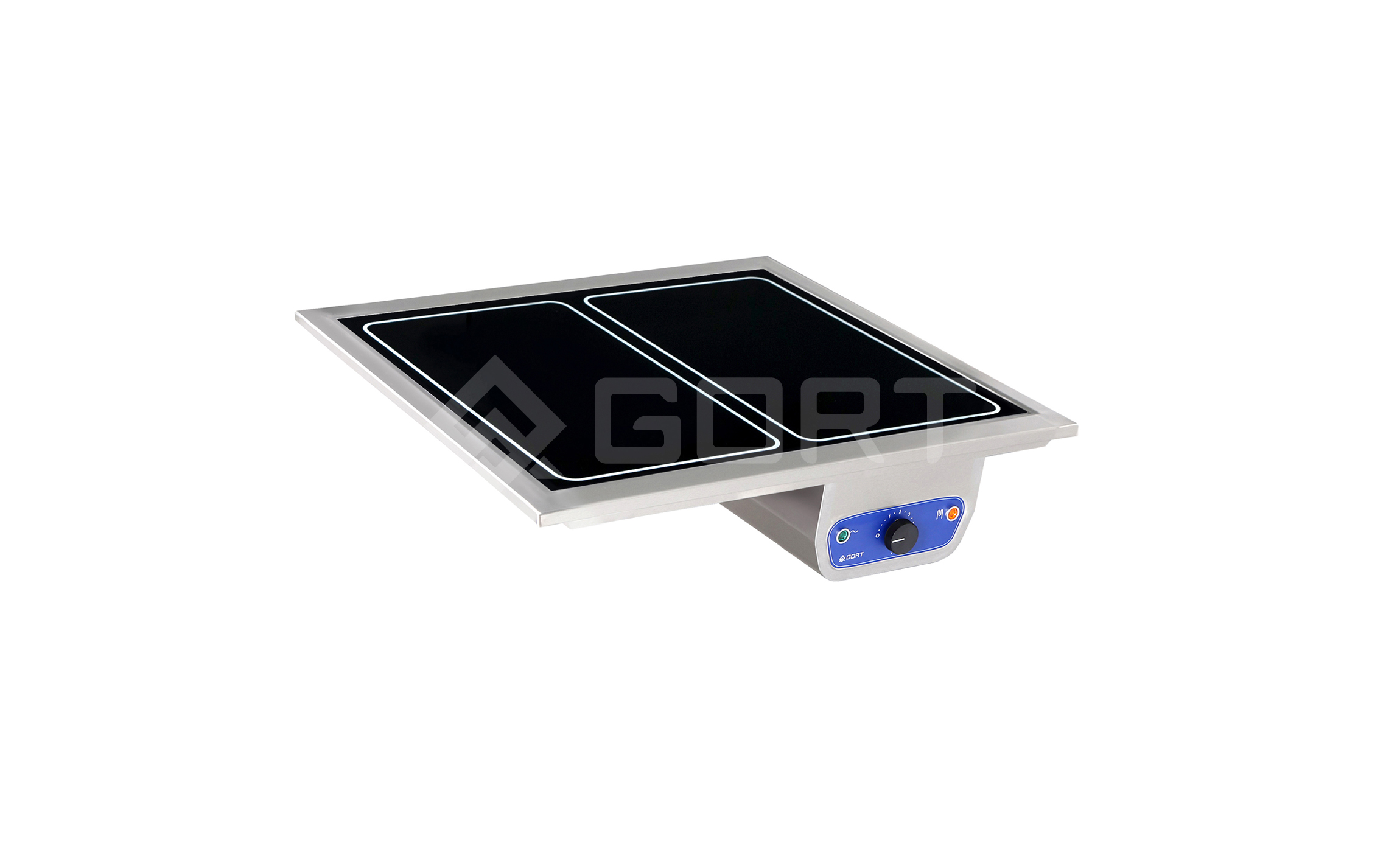Heated top in tempered glass DROP-IN, 2 x GN1/1