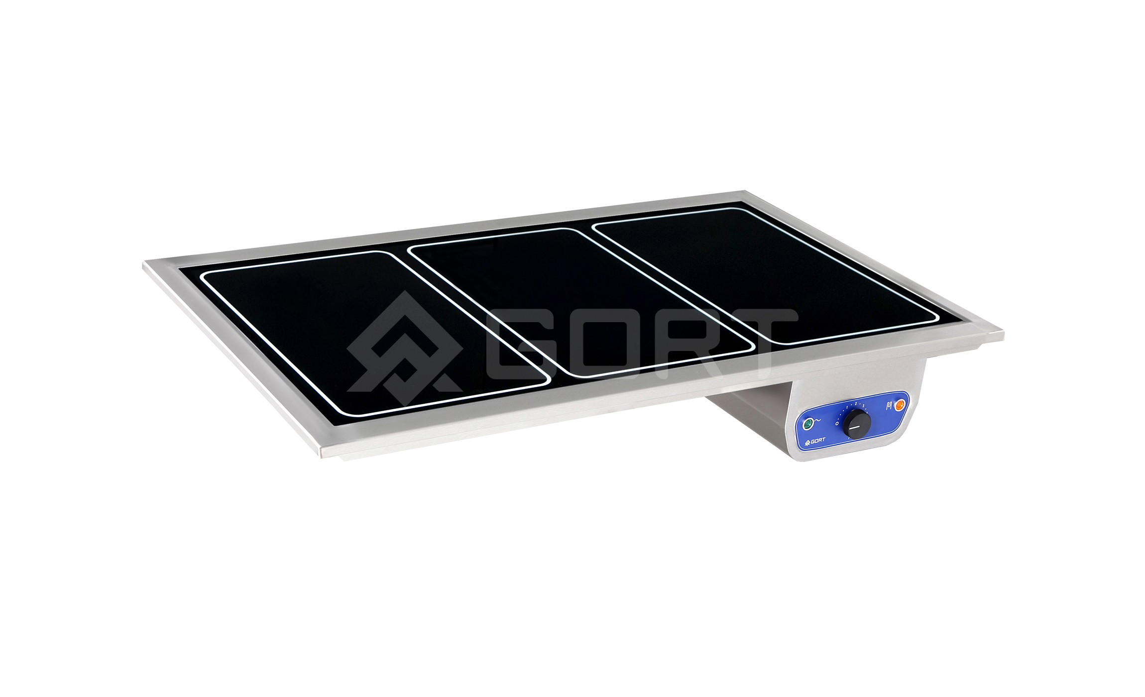 Heated top in tempered glass DROP-IN, 3 x GN1/1