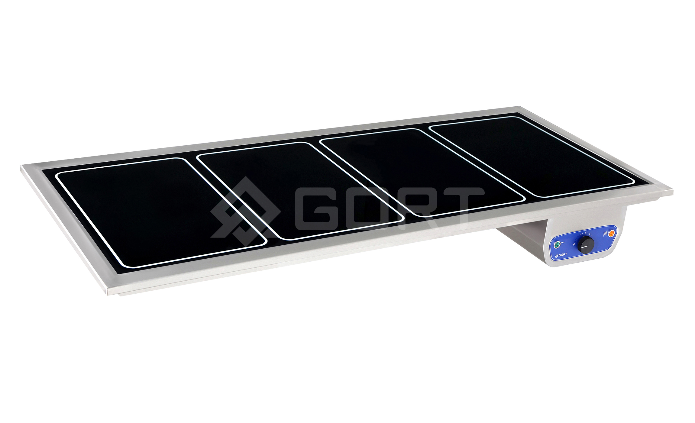 Heated top in tempered glass DROP-IN, 4 x GN1/1