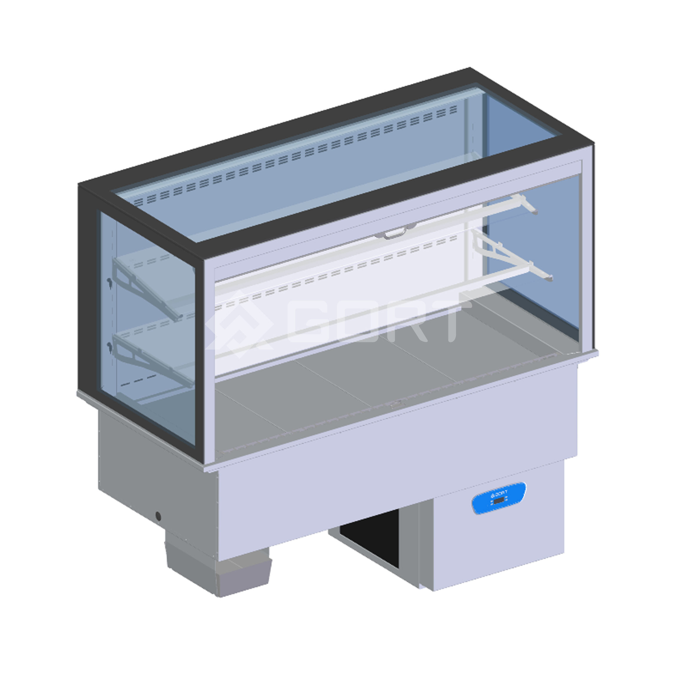 Wall refrigerated display DROP-IN, 4 x GN1/1
