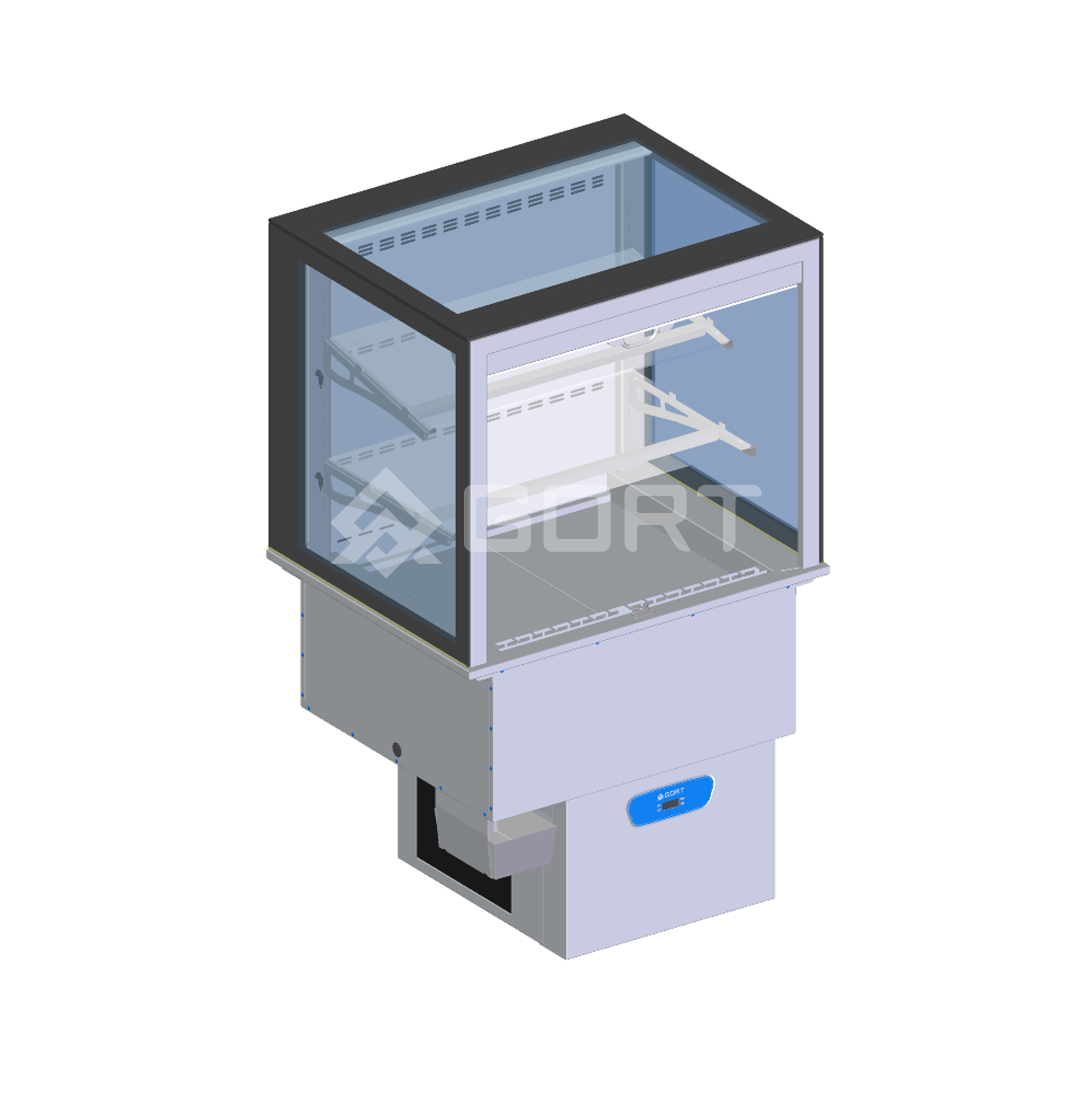 Wall refrigerated display DROP-IN, 2 x GN1/1