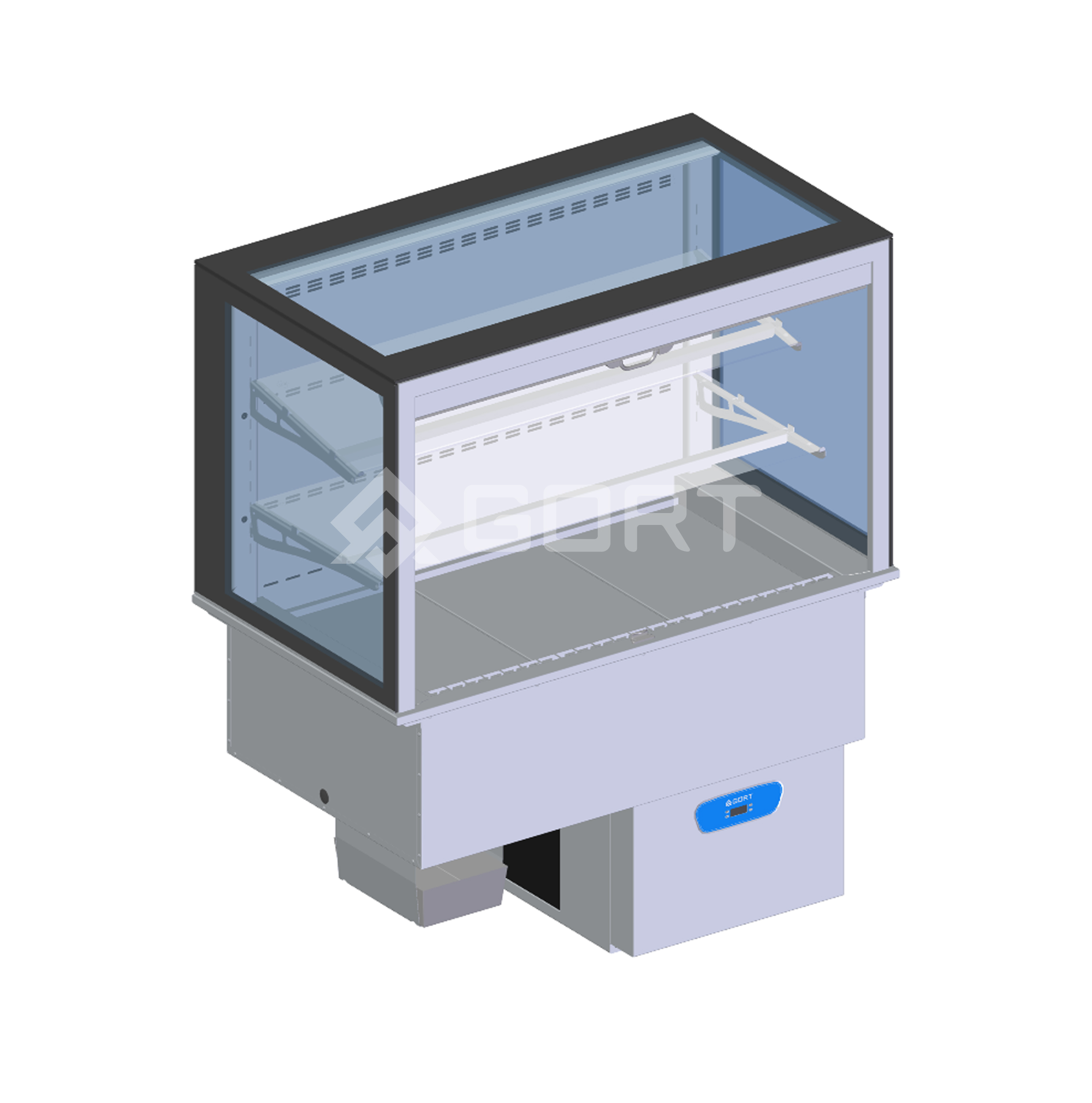 Wall refrigerated display DROP-IN, 3 x GN1/1