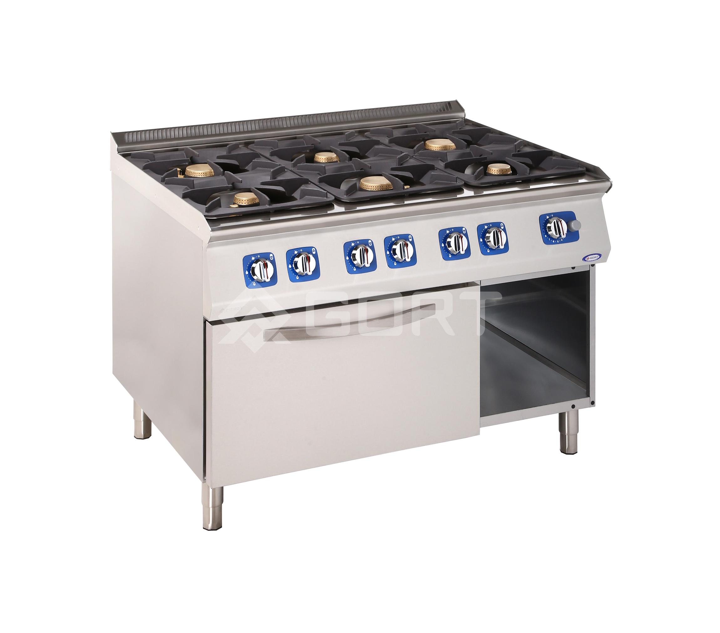 Kuchnia Gazowa 6 Palnikowa Z Piekarnikiem Gazowym L900 Gort Fabryka Maszyn Gastronomicznych